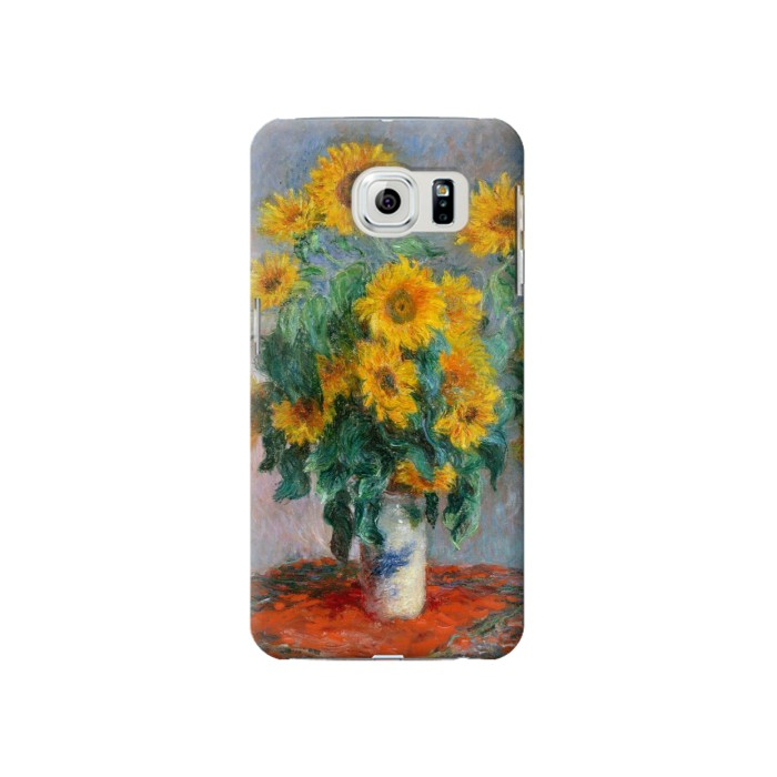 Printed Claude Monet Bouquet of Sunflowers Samsung Galaxy S6 Case