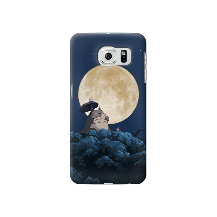 Printed Totoro Ocarina Moon Night Samsung Galaxy S6 Case