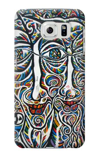 Printed Colorful Faces Berlin Wall Samsung Galaxy S6 Case