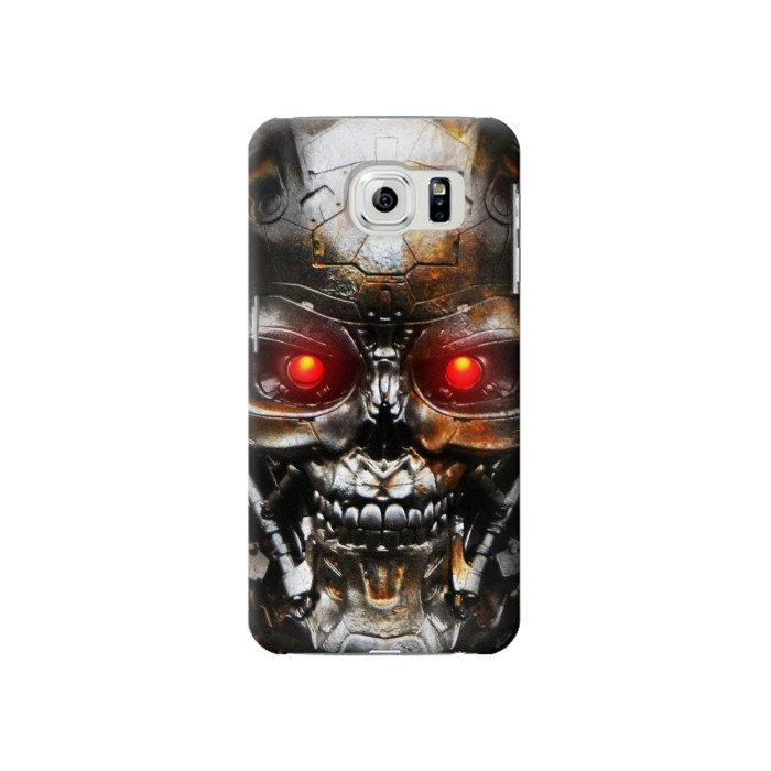 Printed Vintage Robot Skeleton Skull Head Samsung Galaxy S6 Case