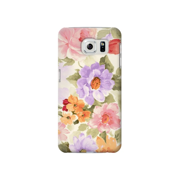 Printed Sweet Flower Painting Samsung Galaxy S6 Case