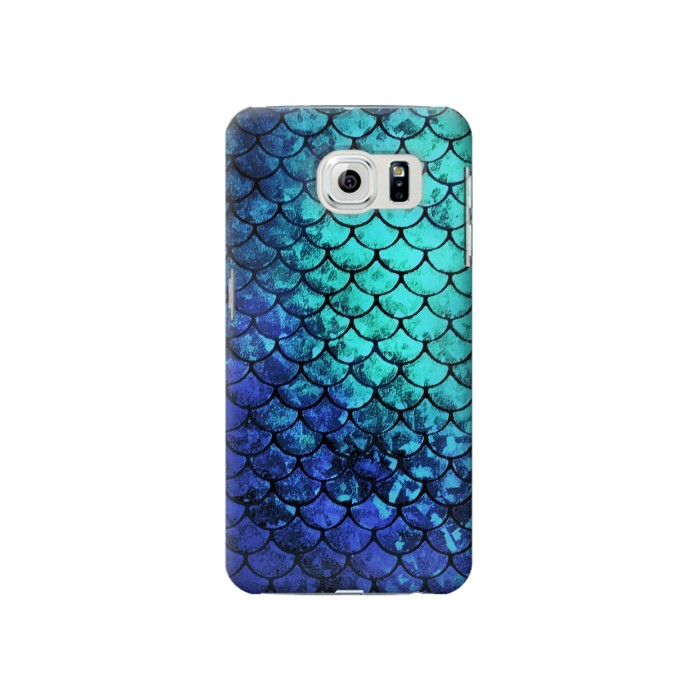 Samsung Galaxy S6 Green Mermaid Fish Scale Case Cover