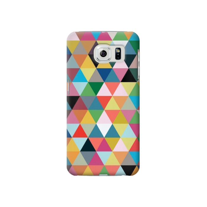 Printed Triangles Vibrant Colors Samsung Galaxy S6 Case
