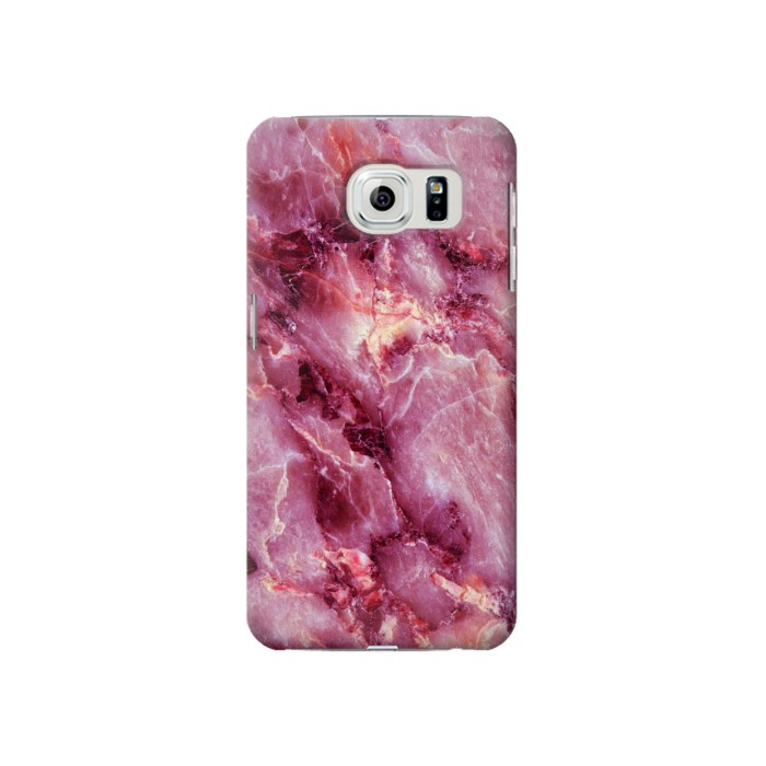 Printed Pink Marble Texture Samsung Galaxy S6 Case