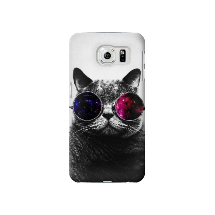 Printed Cool Cat Glasses Samsung Galaxy S6 Case