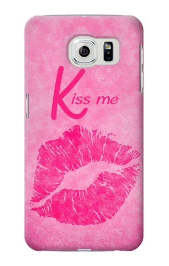 Printed Kiss Me Lips Pink Samsung Galaxy S6 Case