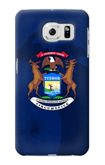 Printed State of Michigan Flag Samsung Galaxy S6 Case