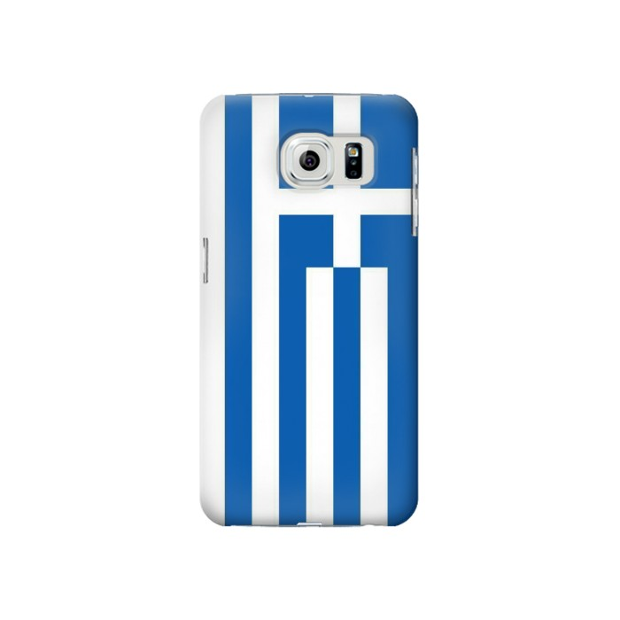 Printed Flag of Greece Samsung Galaxy S6 Case