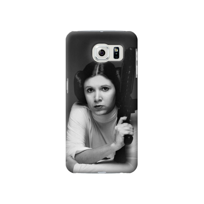 Printed Princess Leia Carrie Fisher Samsung Galaxy S6 Case