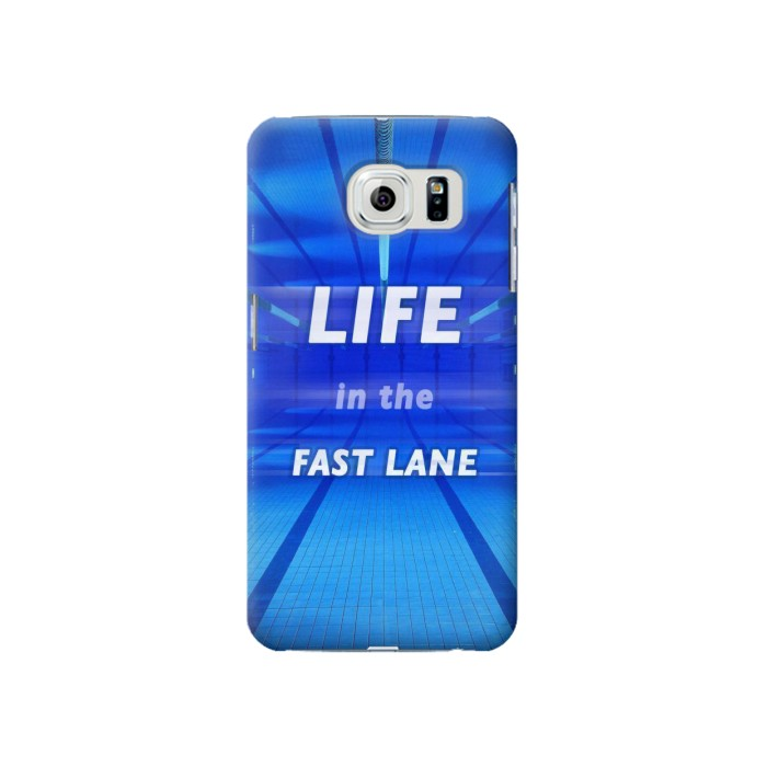 Printed Life in the Fast Lane Swimming Pool Samsung Galaxy S6 Case