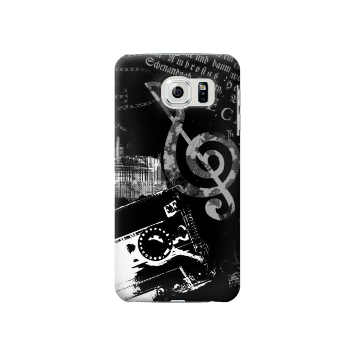 Printed Music Cassette Note Samsung Galaxy S6 Case