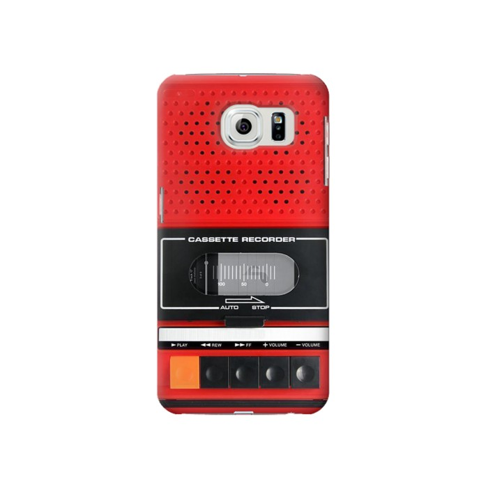 Printed Red Cassette Recorder Graphic Samsung Galaxy S6 Case