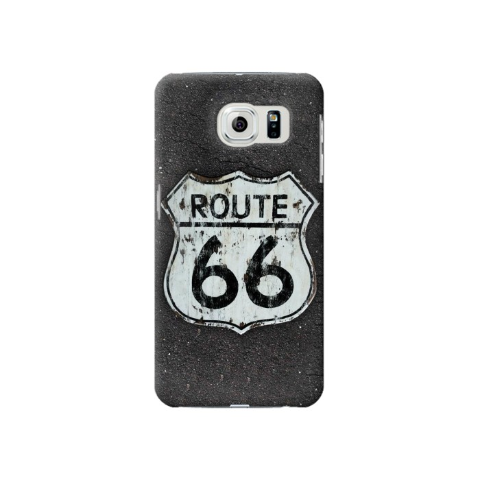 Printed Route 66 Sign Samsung Galaxy S6 Case