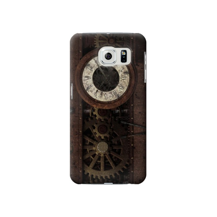 Printed Steampunk Clock Gears Samsung Galaxy S6 Case