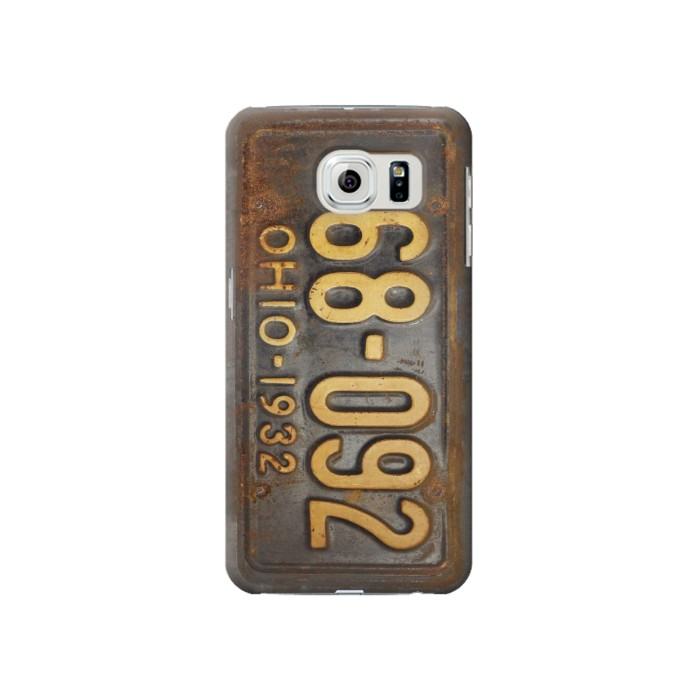 Printed Vintage Car License Plate Samsung Galaxy S6 Case