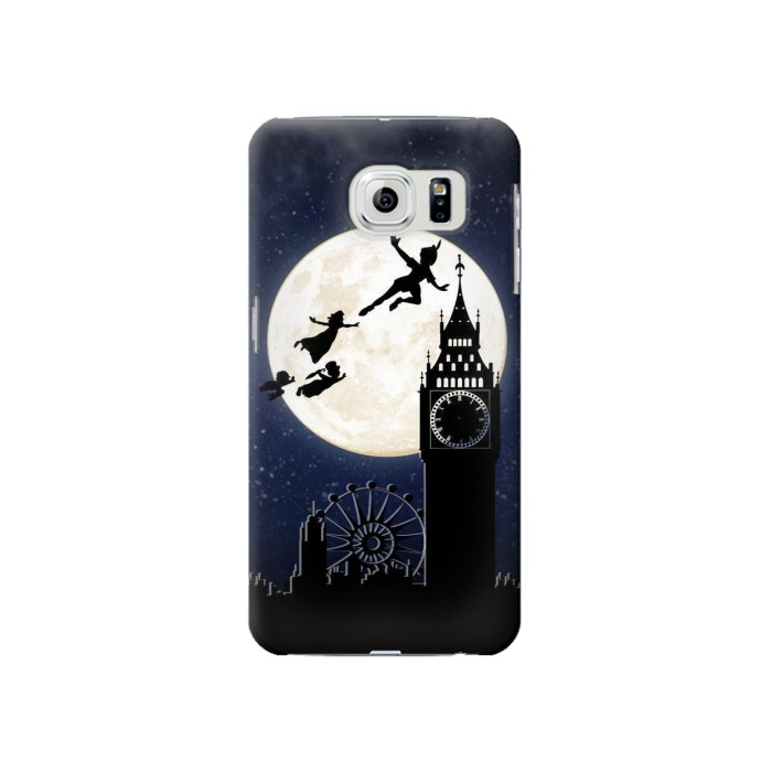 Printed Peter Pan Fly Fullmoon Night Samsung Galaxy S6 Case
