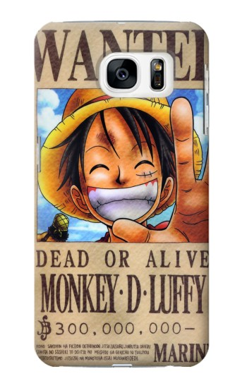 Printed One Piece Monkey D Luffy Wanted Poster Samsung Galaxy S7 Case