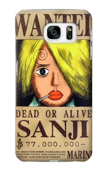 Printed One Piece Sanji Wanted Poster Samsung Galaxy S7 Case