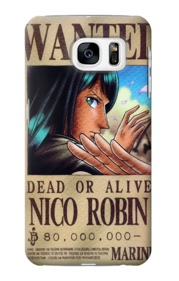 Printed One Piece Nico Robin Wanted Poster Samsung Galaxy S7 Case