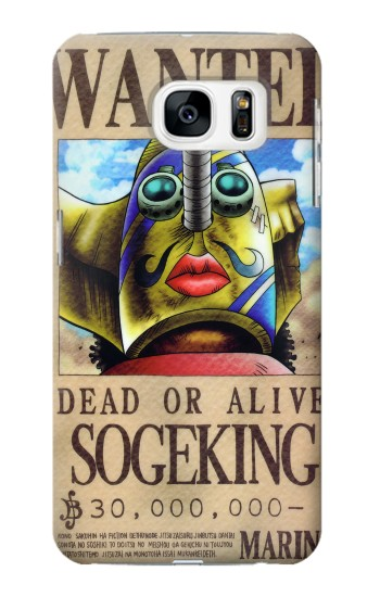 Printed One Piece SOGEKING Wanted Poster Samsung Galaxy S7 Case