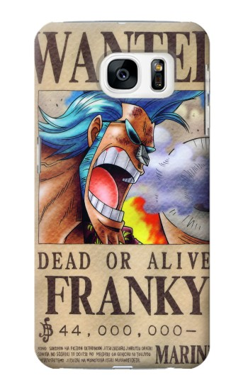 Printed One Piece FRANKY Wanted Poster Samsung Galaxy S7 Case
