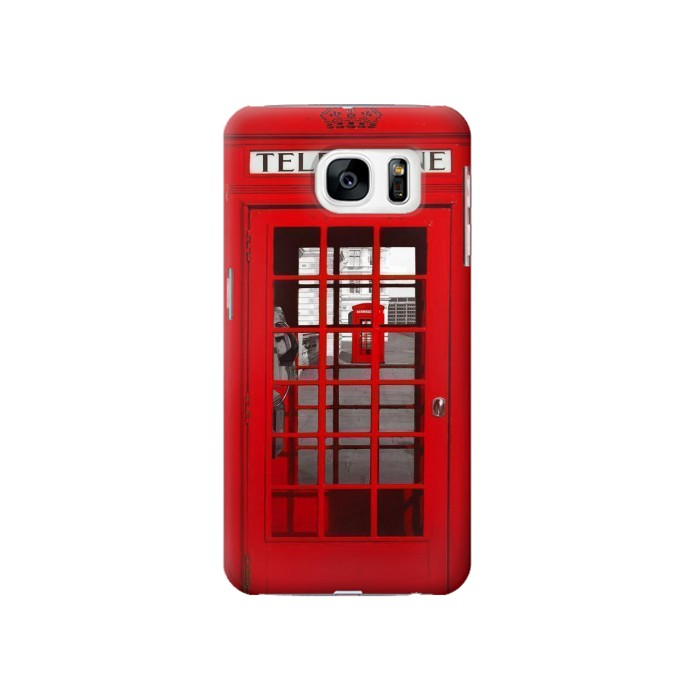 Printed Classic British Red Telephone Box Samsung Galaxy S7 Case
