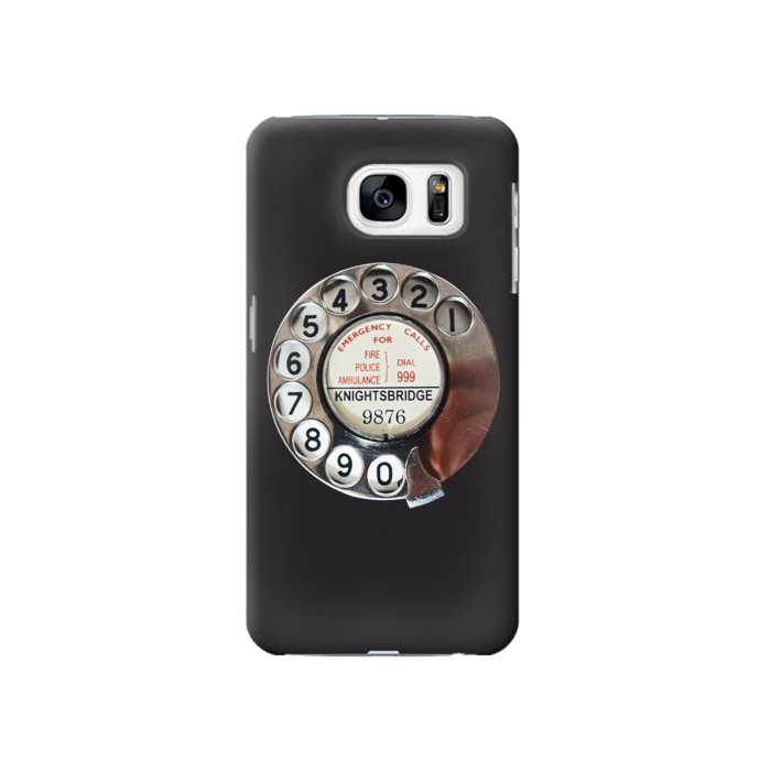 Printed Retro Rotary Phone Dial On Samsung Galaxy S7 Case