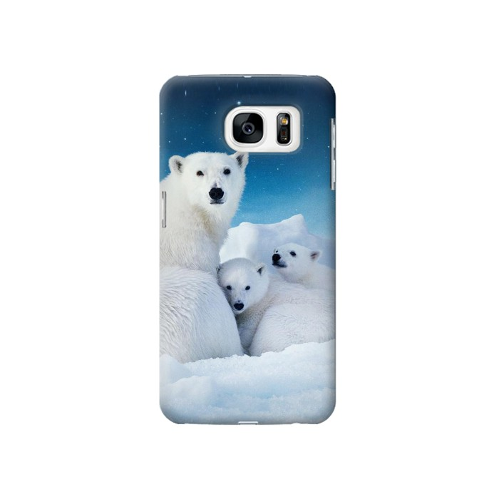 Printed Polar Bear Family Arctic Samsung Galaxy S7 Case