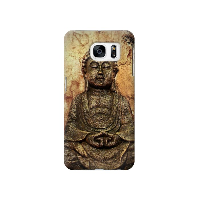 Printed Buddha Rock Carving Samsung Galaxy S7 Case
