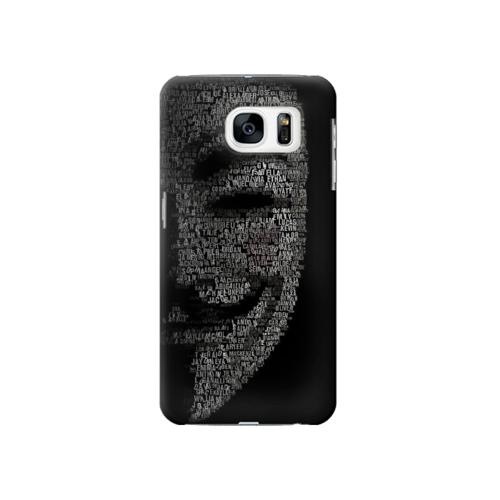 Printed V Mask Guy Fawkes Anonymous Samsung Galaxy S7 Case