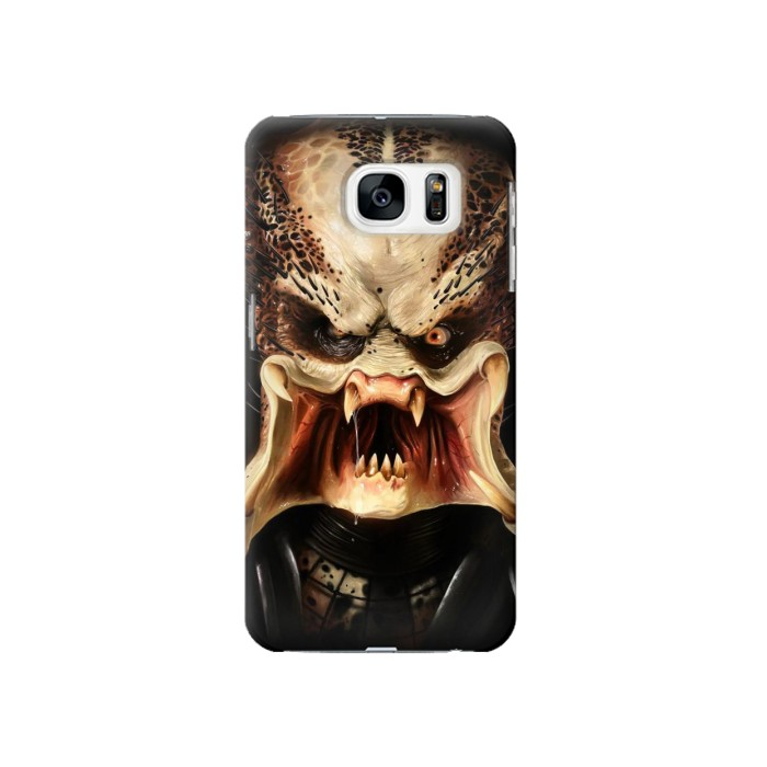Printed Predator Face Samsung Galaxy S7 Case