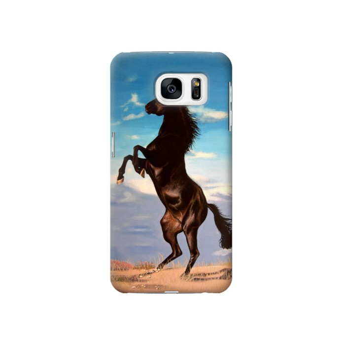 Printed Wild Black Horse Samsung Galaxy S7 Case
