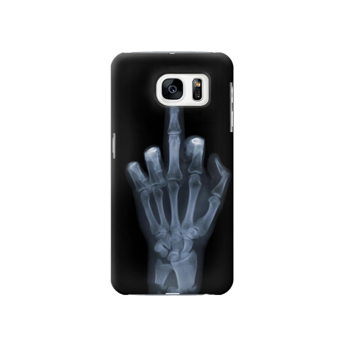 Printed X-ray Hand Middle Finger Samsung Galaxy S7 Case