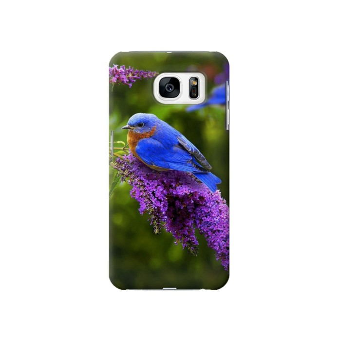 Printed Bluebird of Happiness Blue Bird Samsung Galaxy S7 Case