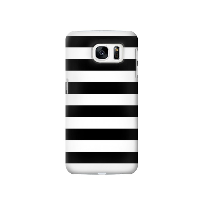 Printed Black and White Striped Samsung Galaxy S7 Case