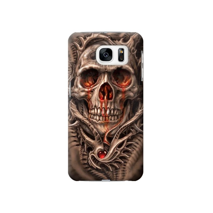 Printed Skull Blood Tattoo Samsung Galaxy S7 Case