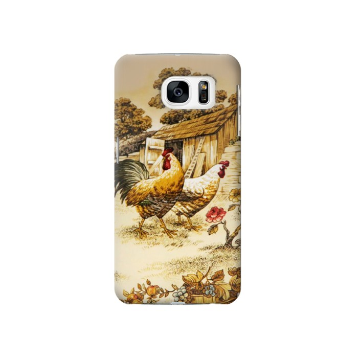 Printed French Country Chicken Samsung Galaxy S7 Case