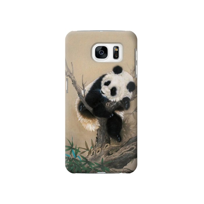 Printed Panda Fluffy Art Painting Samsung Galaxy S7 Case