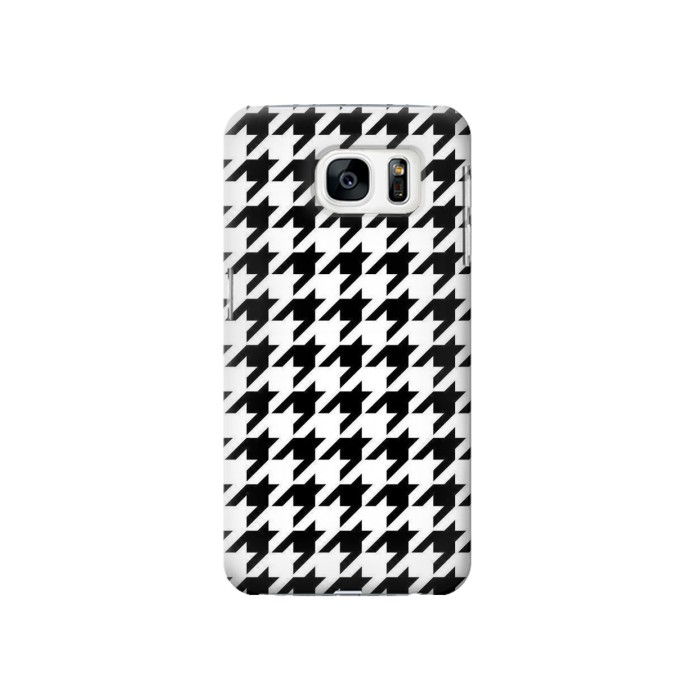 Printed Black White Houndstooth Monogram Pattern Samsung Galaxy S7 Case