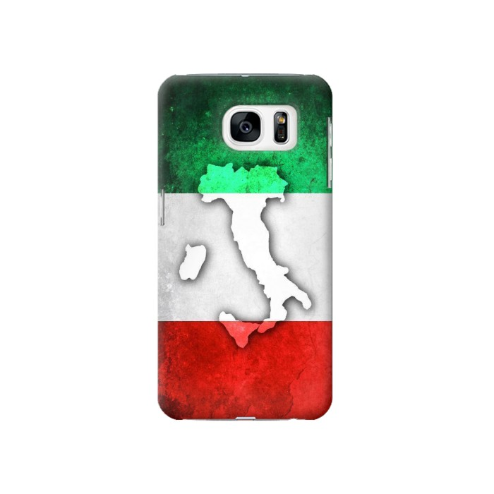 Printed Italy Flag Samsung Galaxy S7 Case