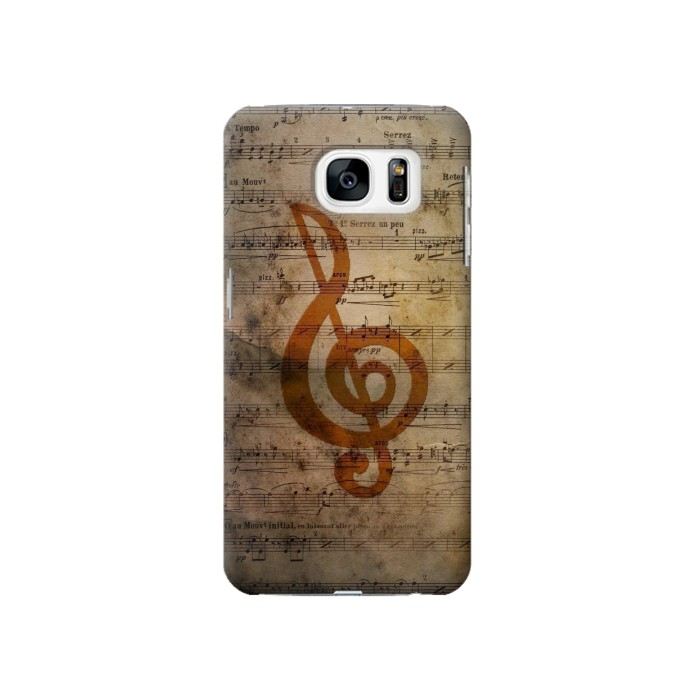 Printed Sheet Music Notes Samsung Galaxy S7 Case