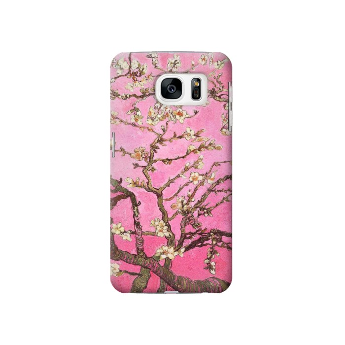 Printed Pink Blossoming Almond Tree Van Gogh Samsung Galaxy S7 Case