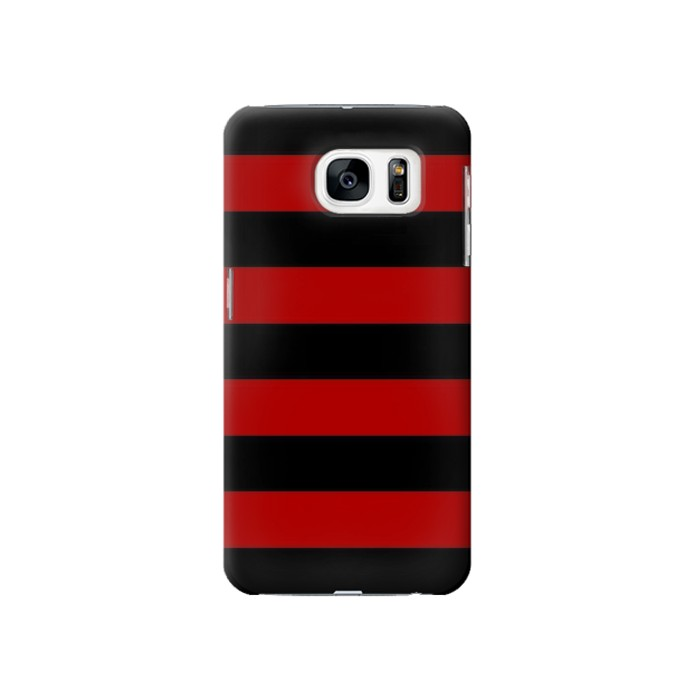 Printed Black and Red Striped Samsung Galaxy S7 Case