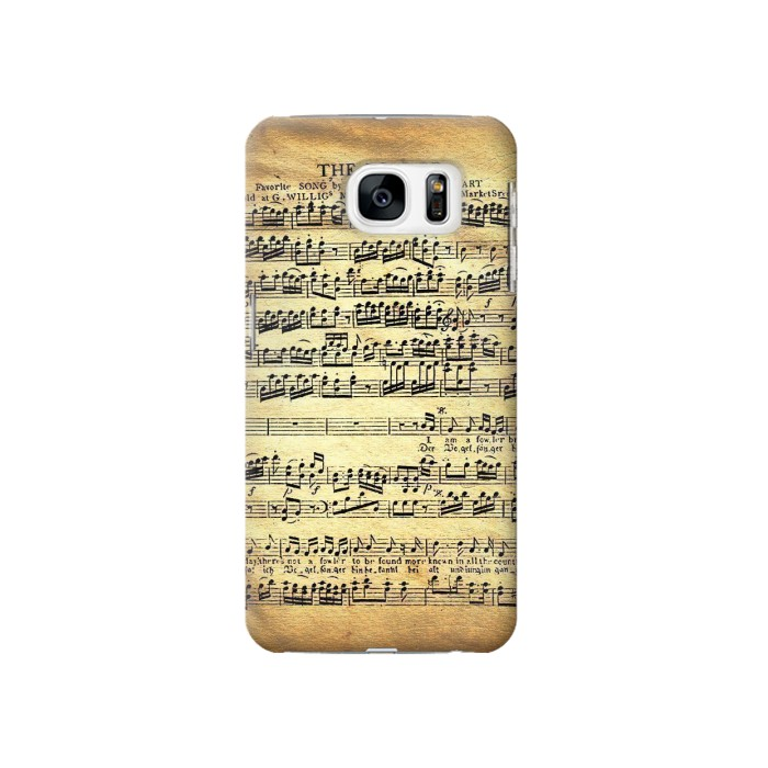 Printed The Fowler Mozart Music Sheet Samsung Galaxy S7 Case
