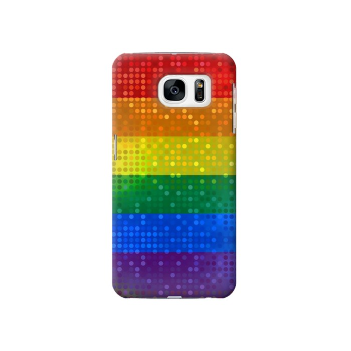 Printed Rainbow Gay LGBT Pride Flag Samsung Galaxy S7 Case