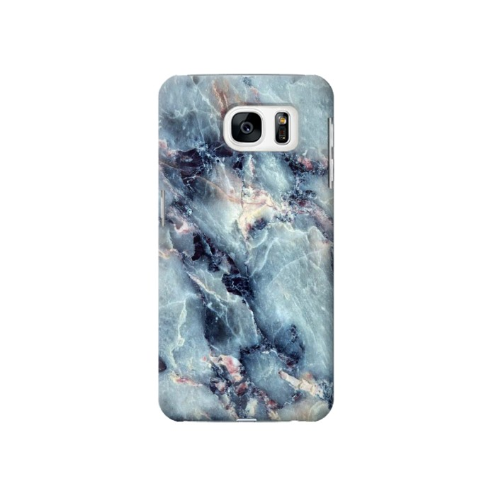 Printed Blue Marble Texture Samsung Galaxy S7 Case