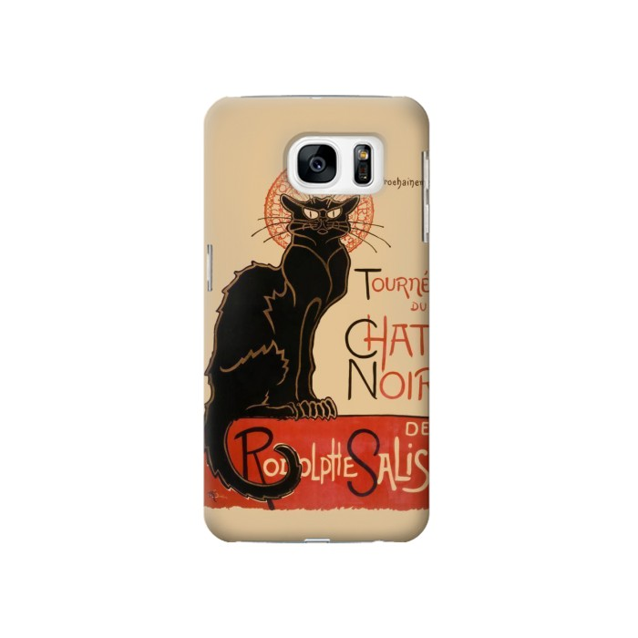 Printed Chat Noir The Black Cat Samsung Galaxy S7 Case
