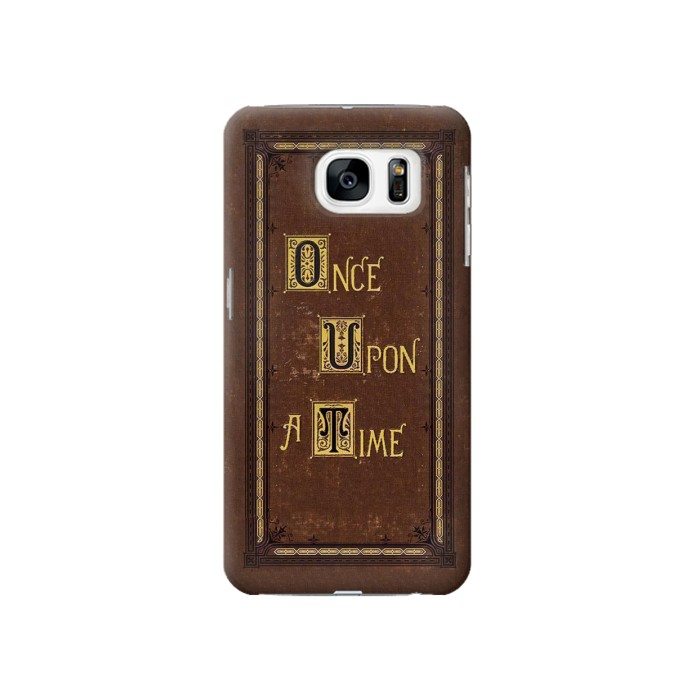 Printed Once Upon a Time Book Cover Samsung Galaxy S7 Case