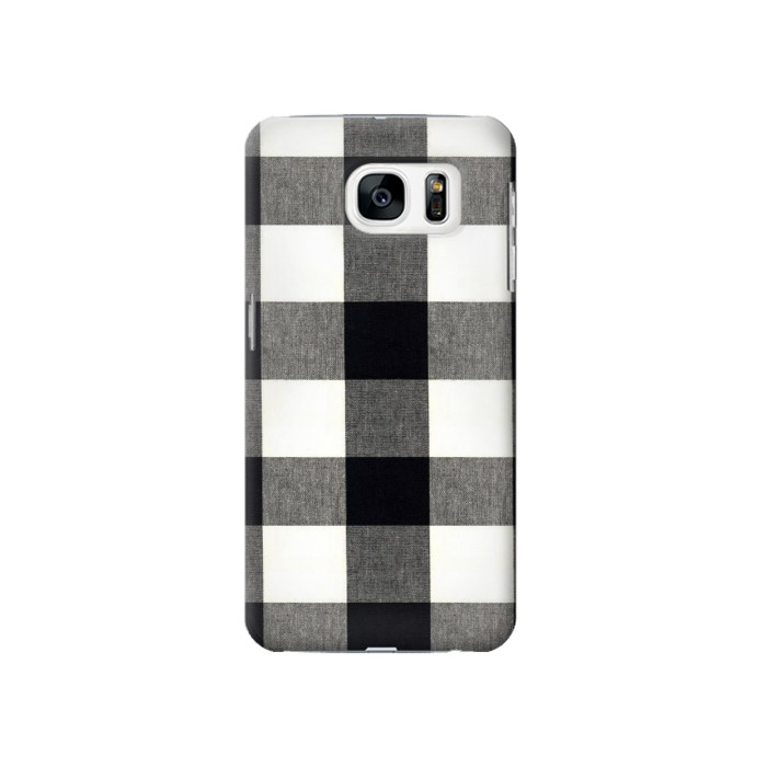 Printed Black and White Buffalo Check Pattern Samsung Galaxy S7 Case