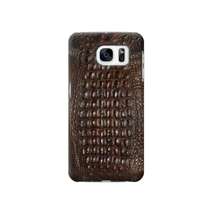 Printed Brown Skin Alligator Graphic Printed Samsung Galaxy S7 Case